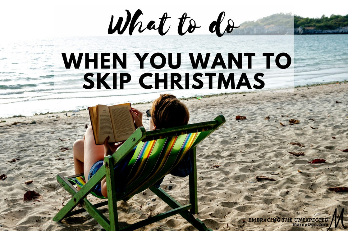"I am already exhausted just thinking about it. Is anyone else caught up  in that place where you are asking – ""Can we please just skip Christmas?"""