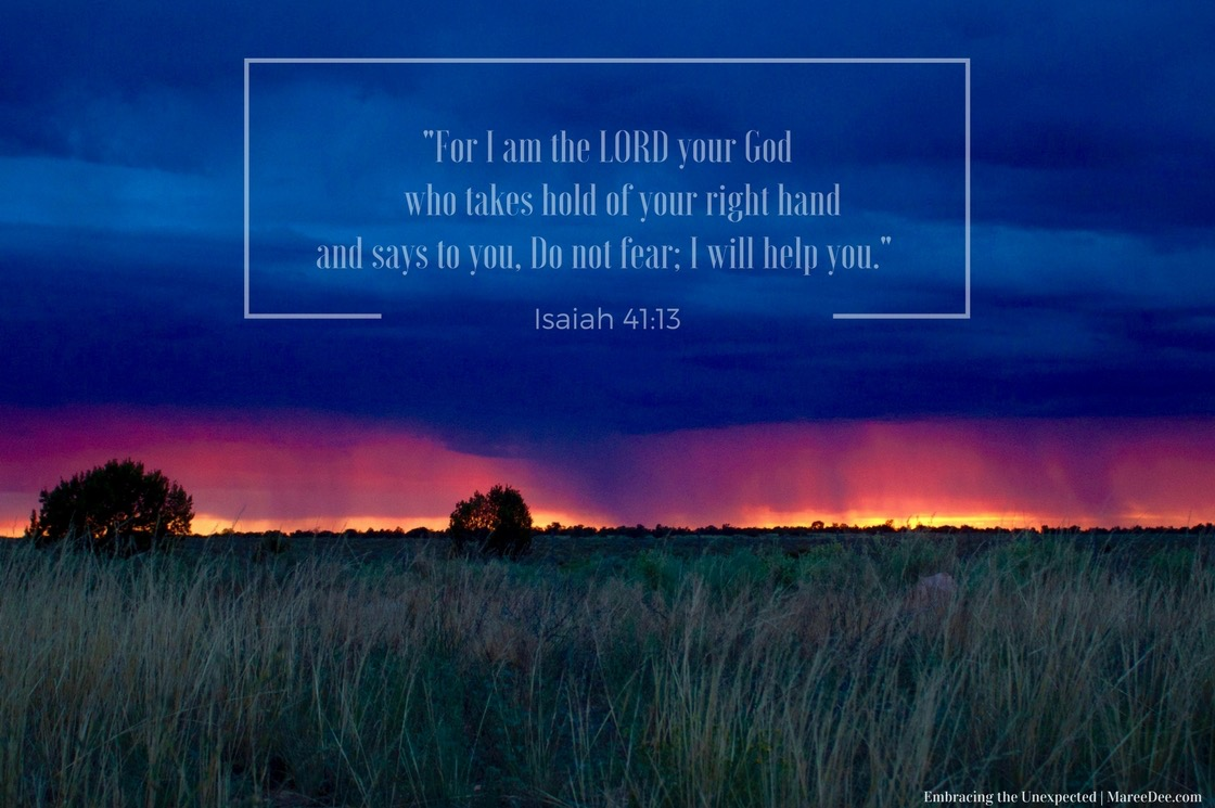 For I am the LORD your God who takes hold of your right hand and says to you, Do not fear; I will help you. Isaiah 41:13