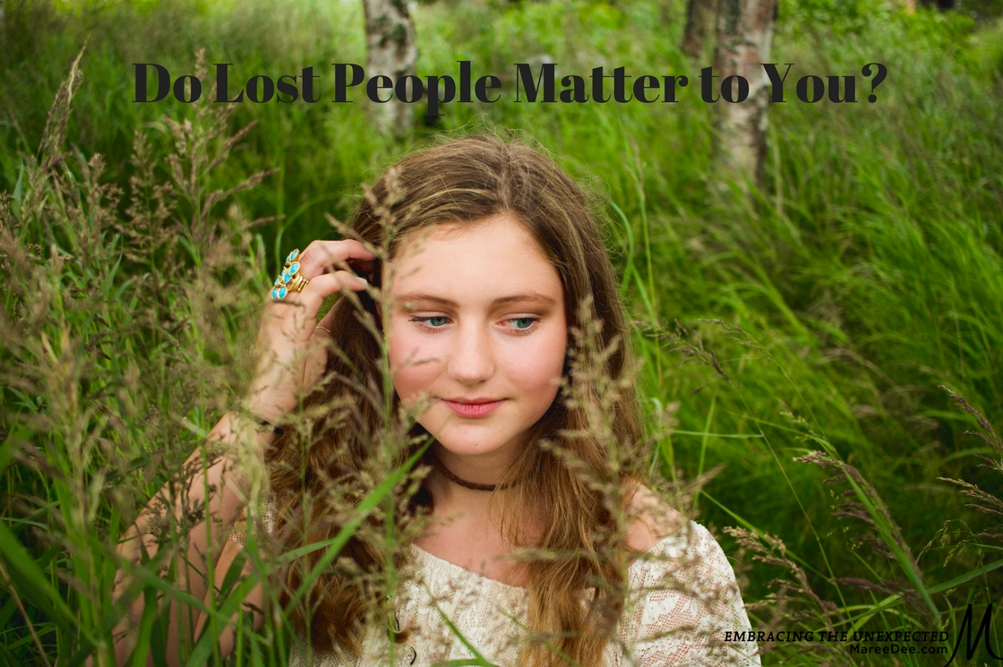 I challenge you to ponder the question - Do lost people really matter to you? We know ALL PEOPLE matter to God, and therefore they should matter to us but ..